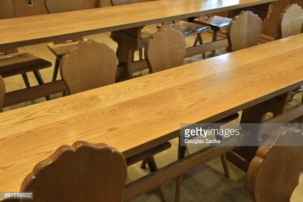 wood table and chairs - 2000s style stock pictures, royalty-free photos & images