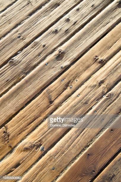 Wood texture of a beach walk