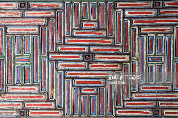 wood tile work - gilgit stock pictures, royalty-free photos & images