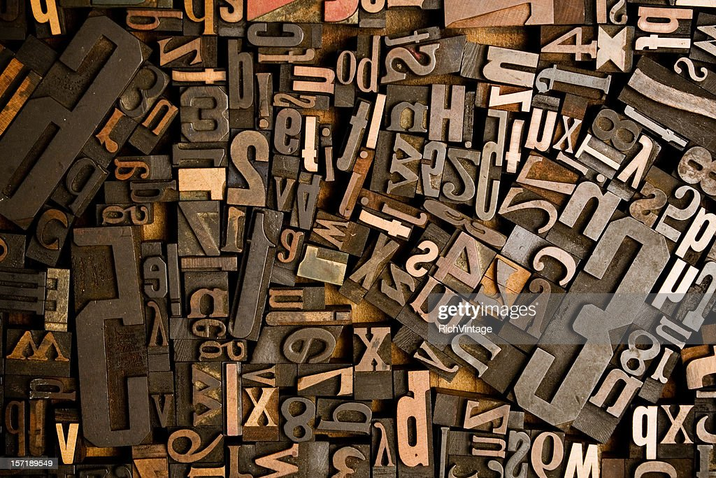 Wood Type Conglomerate : Stock Photo
