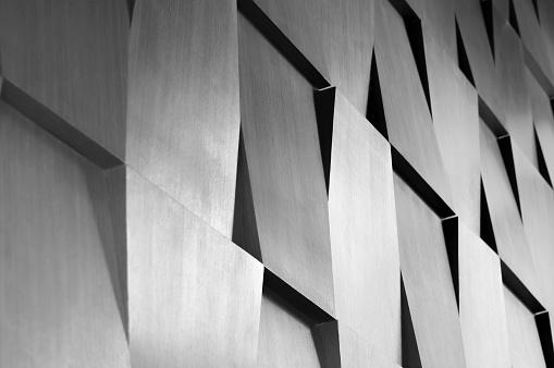 Wood wall geometry decoration 480361476