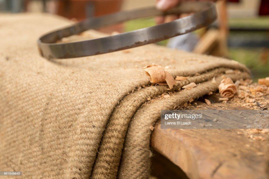 Wood Work bench : Stock Photo