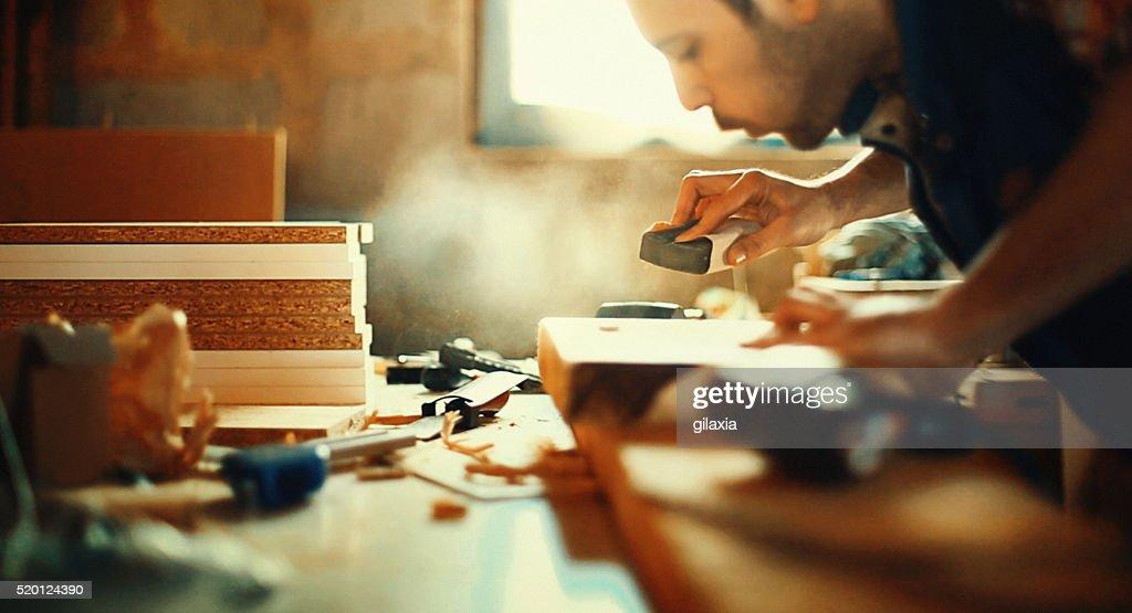 Holz arbeiten. : Stock-Foto