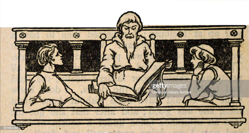 A philosopher reading aloud. : News Photo