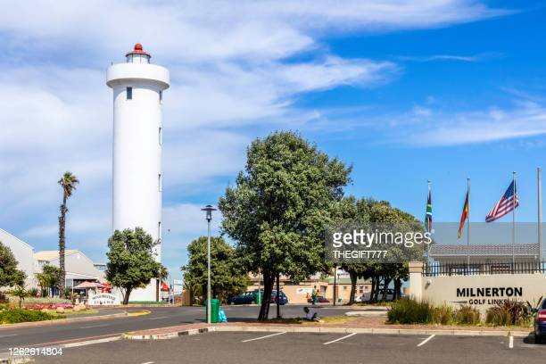 woodbridge island with milnerton lighthouse, cape town - woodbridge virginia stock pictures, royalty-free photos & images