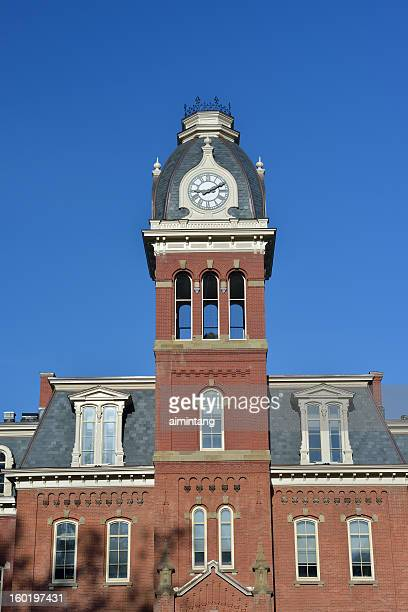 woodburn hall in west virginia university - clock tower stock pictures, royalty-free photos & images