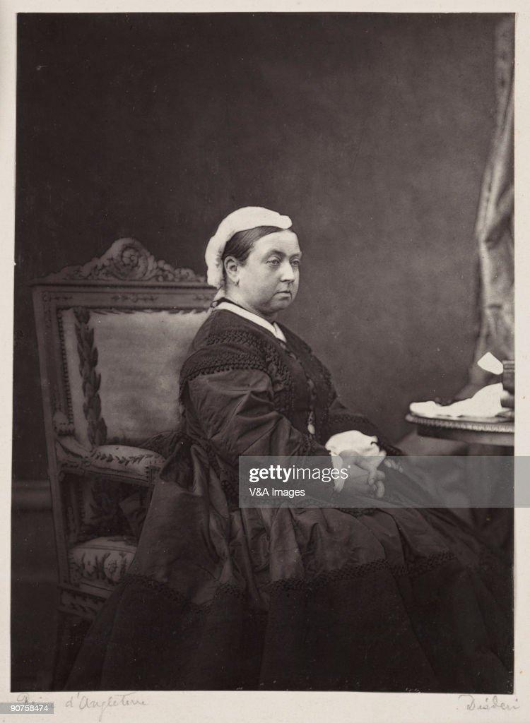 Queen Victoria, c 1870. : News Photo
