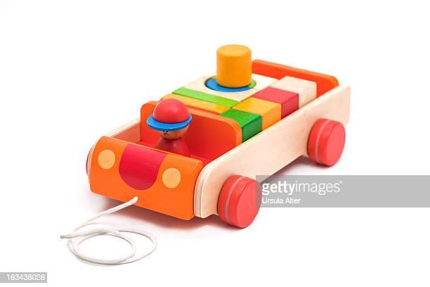 woode toy block car