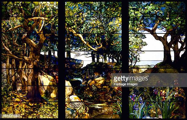 A Wooded Landscape in Three Panels c 1905 Found in the collection of the Museum of Fine Arts Houston