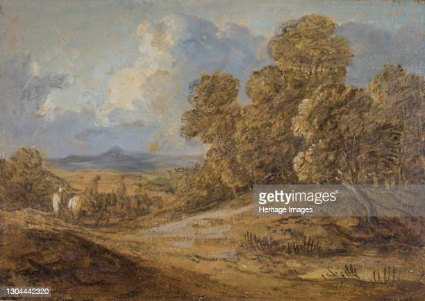 Wooded Landscape With Figures on Horseback, 1785-1788. Artist Thomas Gainsborough.