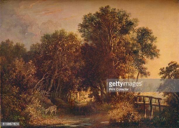 A Wooded Lane' circa 1790 From The Connoisseur Volume LXXXIX [The Connoisseur Ltd London 1932] Artist John Crome