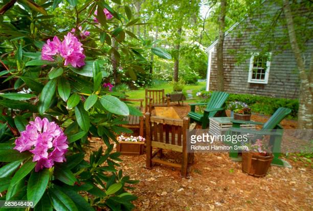 Wooded Sitting Area in Yard