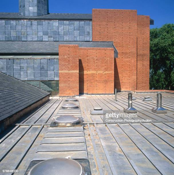 Wooden and lead roof deck of St Barnabas Church Dulwich South London UK