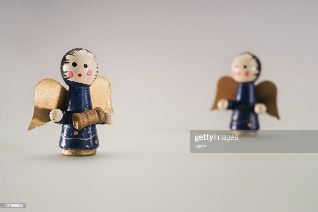 Wooden Angel Figurines Stock Photo Getty Images