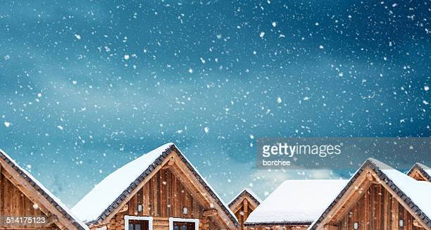 wooden apartments in the mountains - shack stock pictures, royalty-free photos & images