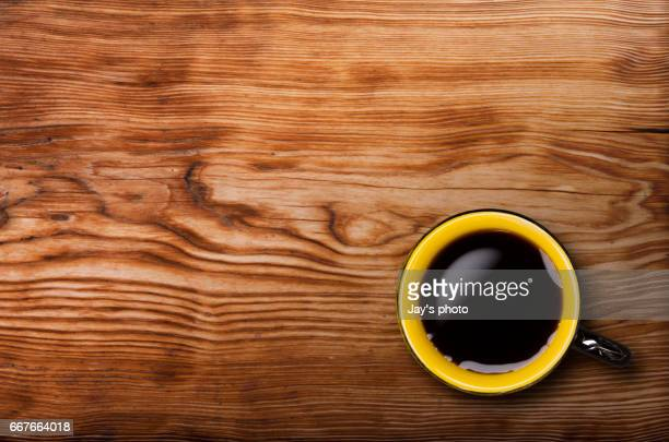 Wooden background coffee