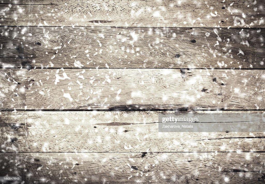 Hölzerne Hintergrund Für Weihnachten Rustikale Holz Wand Mit Weißer ...