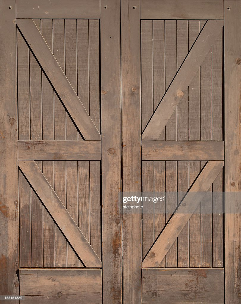 Wooden Barn Doors Isolated Stock Photo Getty Images