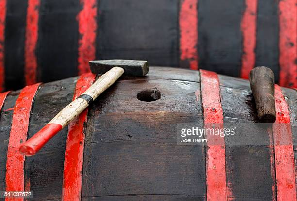 Wooden barrel and plug and mallet