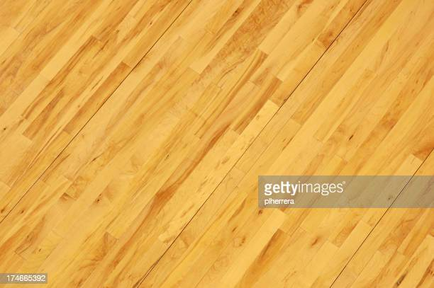 Basket pavimento in legno girato in diagonale sopra la testa