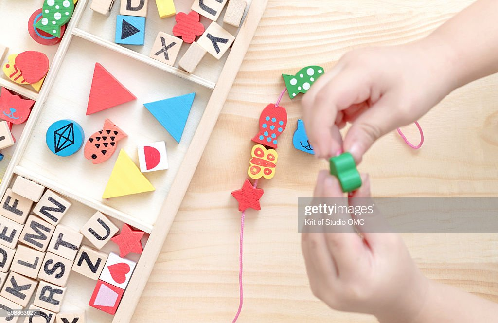 Wooden bead toy : Stock Photo