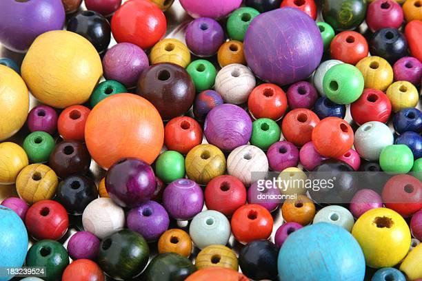 Holz, mehrfarbigen Perlen