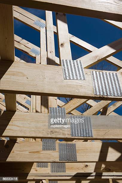 Wooden beams of house