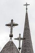 Wooden bell tower of orthodox church of Botiza