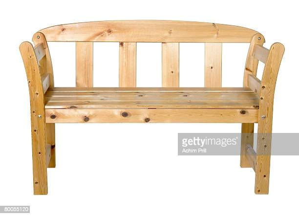 wooden bench isolated on white with clipping path Studio-shot with Phase One P 20 in 74635 Kupferzell (Germany)