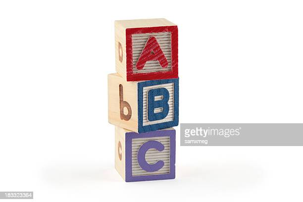 ABC wooden blocks (clipping paths)