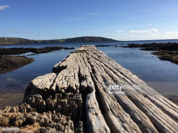 Wooden Boat Slipway Wembury Plymouth