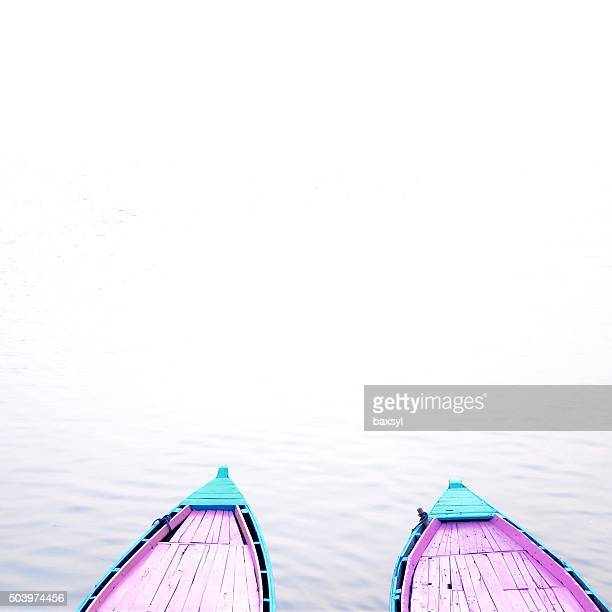 wooden boats on the Ganges