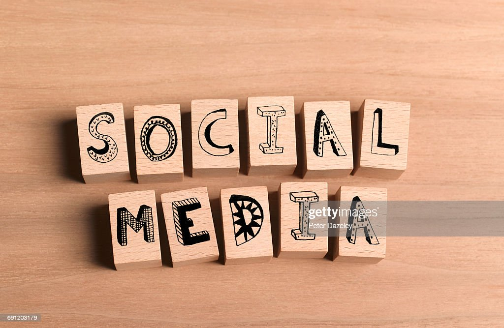 Wooden Bricks Spelling Out Social Media Stock Photo - Getty