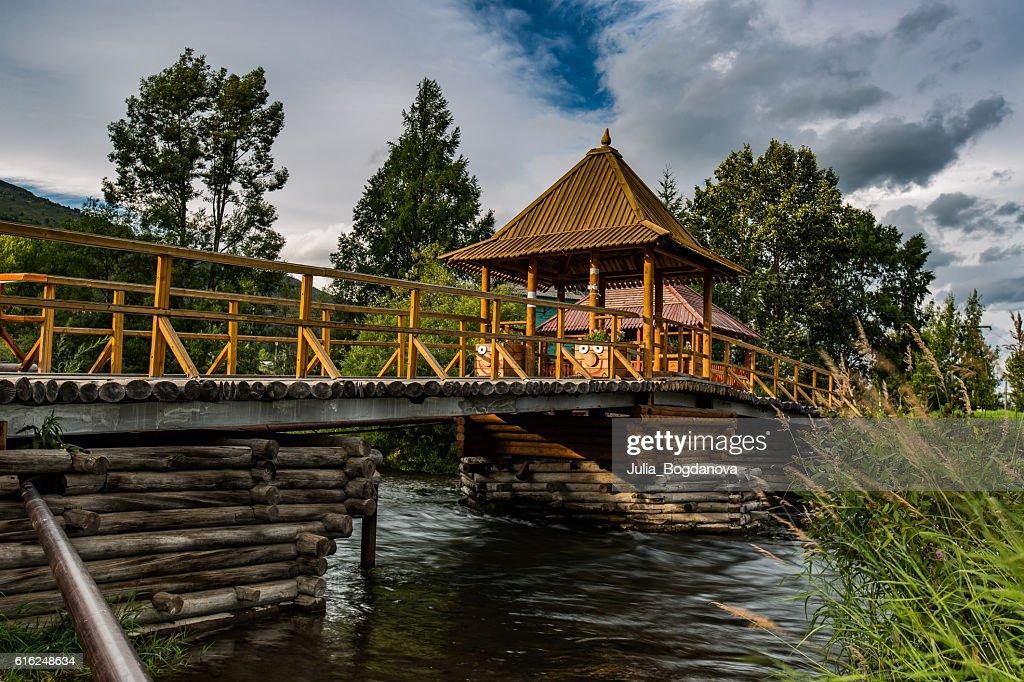 Wooden bridg : Stock Photo