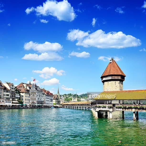 Holz-Brücke in Luzern