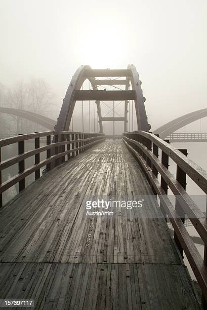 wooden bridge - midland michigan stock pictures, royalty-free photos & images