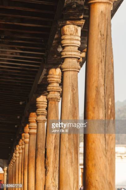 wooden building detail - colonial stock pictures, royalty-free photos & images