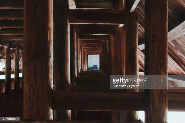 wooden built structure - durability stock photos and pictures