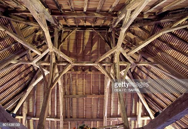 Wooden ceiling Chateau d'Etchauz SaintEtiennedeBaigorry France Aquitaine 11th16th century