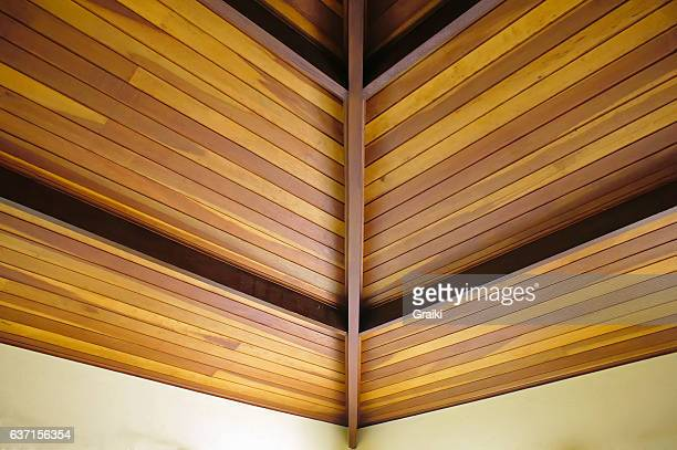 Wooden ceiling lining