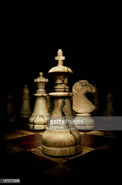 wooden chess pieces - ogphoto stock photos and pictures