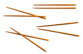 wooden chopsticks with clipping path included