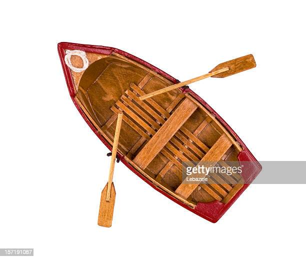 wooden classical boat model - rowing boat stock pictures, royalty-free photos & images