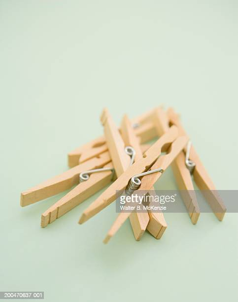 wooden clothespins - clothespin stock pictures, royalty-free photos & images