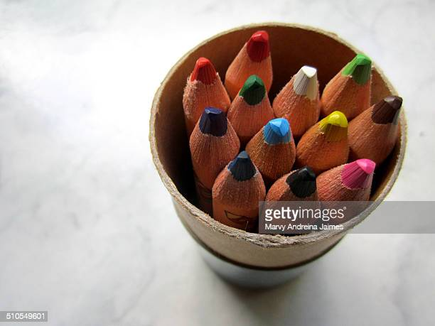 Wooden colored pencil