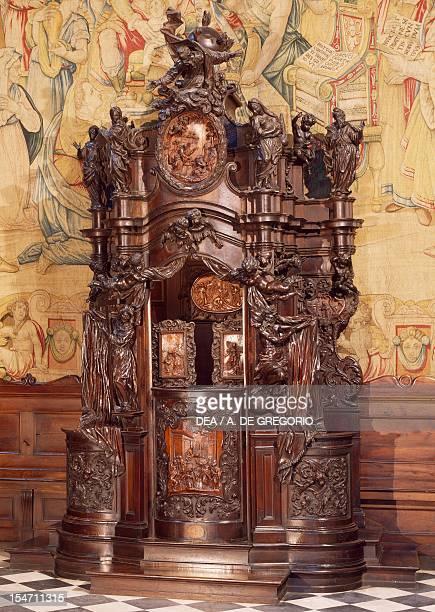 Wooden confessional by Andrea Fantoni Santa Maria Maggiore Basilica Bergamo Italy 18th century
