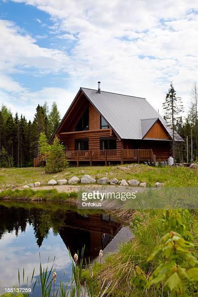 Cottage en bois, connectez-vous à la maison, Log Cabin