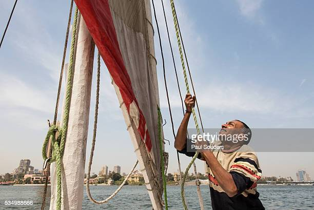Wooden Dhow Boat, Cairo, Egypt