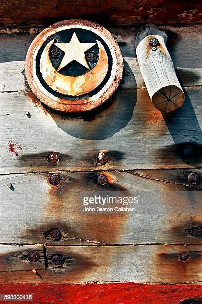 Wooden dhow with Moon and Star plaque