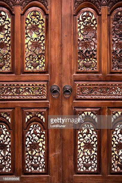 wooden door - filipino culture stock pictures, royalty-free photos & images